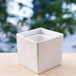 chậu cây cảnh - chậu gốm sứ vuông